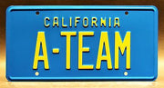 Replica metal stamped California license plate garage decor from A-TEAM starring Dirk Benedict