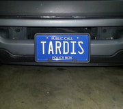 TARDIS public call police box license plate from Doctor Who