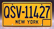 Replica metal stamped New York license plate garage decor from Entourage starring Kevin Dillon