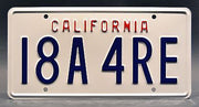 Replica metal stamped California license plate garage decor from 90210 starring Jason Priestley