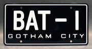 Replica metal stamped Gotham City license plate garage decor from Batman with Robin