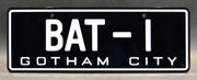 Replica metal stamped Gotham City license plate garage decor from Batman starring Burt Ward