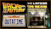 Home theatre décor from Back to the Future with Marty McFly
