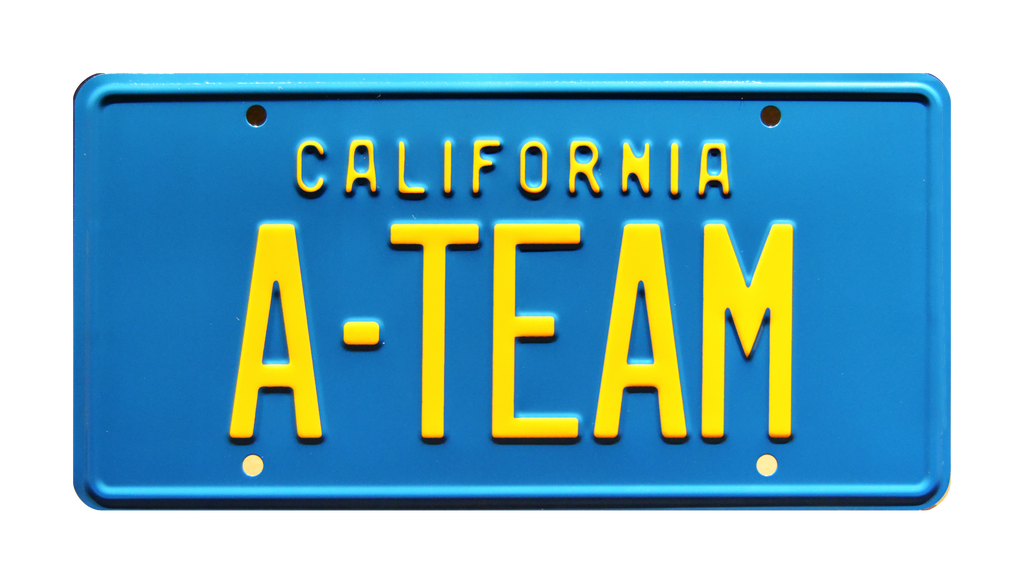 A-TEAM prop plate movie memorabilia from A-TEAM starring George Peppard