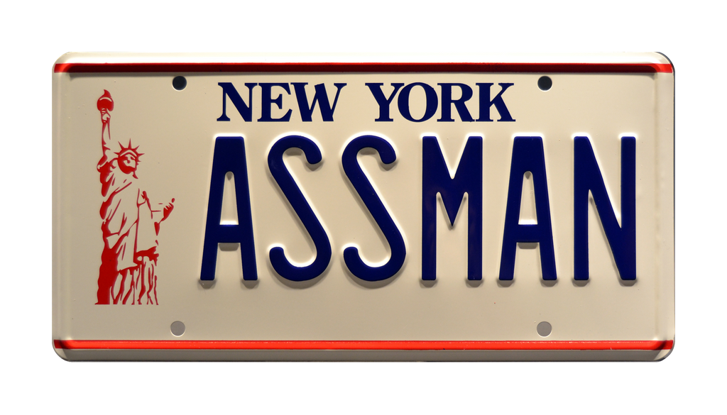 ASSMAN prop plate movie memorabilia from Seinfeld starring Jerry Seinfeld