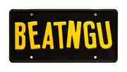 BEATNGU prop plate movie memorabilia from Jeepers Creepers starring Justin Long