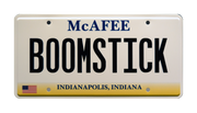 BOOMSTICK prop plate memorabilia from Pat McAfee Foundation with Indianapolis Colts