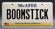 Replica metal stamped Indiana license plate garage decor from Pat McAfee Foundation