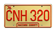 CNH 320 prop plate movie memorabilia from Dukes of Hazzard General Lee with Luke Duke