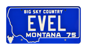 EVEL prop plate movie memorabilia with Daredevil Evel Knievel