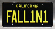Replica metal stamped California license plate garage decor from Lucifer starring Lauren German