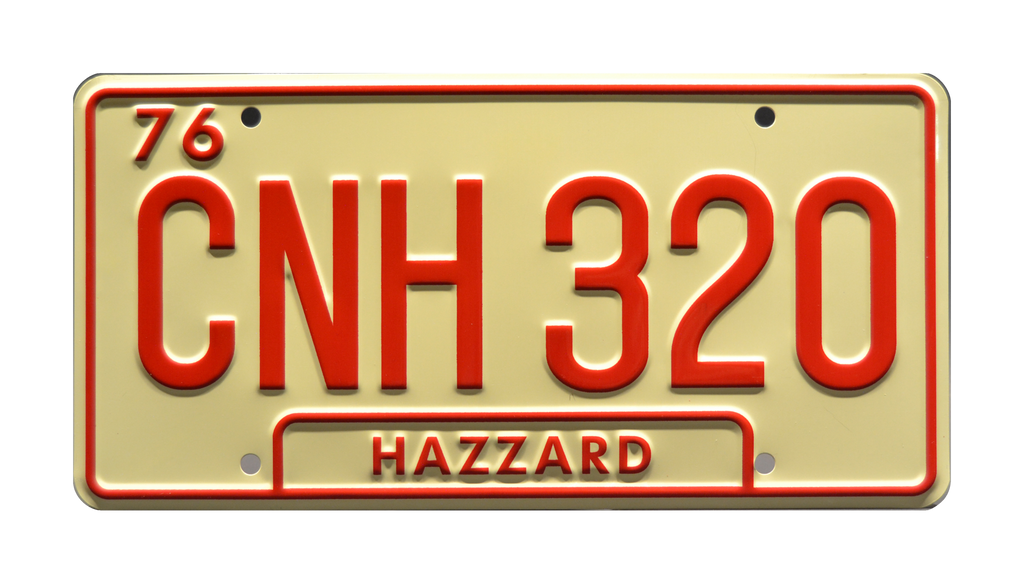 GA CNH 320 prop plate movie memorabilia from Dukes of Hazzard General Lee with Bo Duke