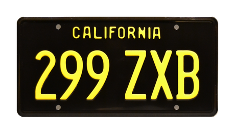 299 ZXB prop plate movie memorabilia from Marvel's Agents of S.H.I.E.L.D. starring Gabriel Luna