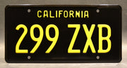 Replica metal stamped California license plate garage decor from Marvel's Agents of S.H.I.E.L.D. starring Clark Gregg