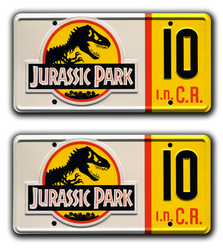 JP 10 prop plate movie memorabilia from Jurassic Park starring Laura Dern