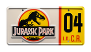 JP 04 prop plate movie memorabilia from Jurassic Park starring Ariana Richards