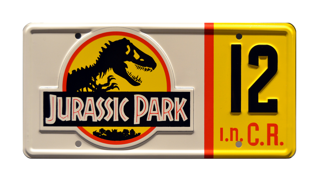 JP 12 prop plate movie memorabilia from Jurassic Park starring Wayne Knight