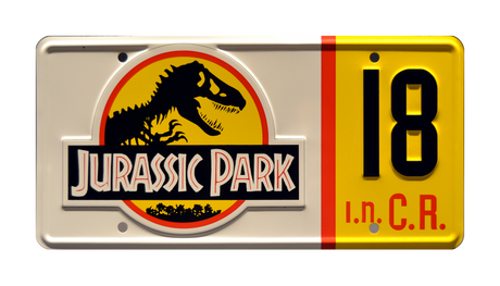 JP 18 prop plate movie memorabilia from Jurassic Park starring Sam Neill