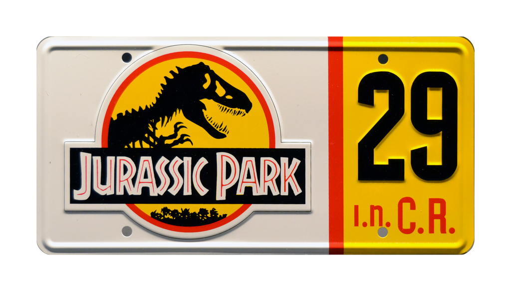 JP 29 prop plate movie memorabilia from Jurassic Park starring Richard Attenborough