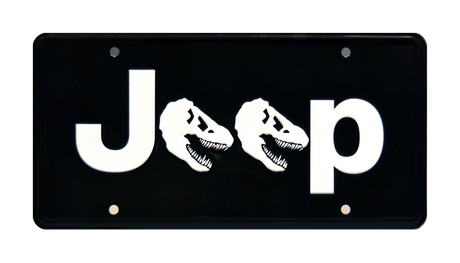 DINO JEEP prop plate movie memorabilia from Jurassic Park starring Irrfan Khan