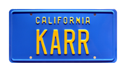 KARR prop plate movie memorabilia from Knight Rider with KITT