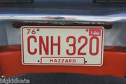 CNH 320 license plate on General Lee from Dukes of Hazzard