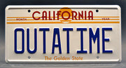 Replica metal stamped California license plate garage decor from BTTF starring Christopher Lloyd