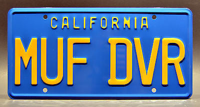 MUF DVR Metal Stamped Vanity Prop License Plate Combo YESCA Cheech /& Chong/'s Up in Smoke