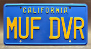 Replica metal stamped California license plate garage decor from Up in Smoke starring Tommy Chong