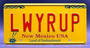 Replica metal stamped New Mexico license plate garage decor from Breaking Bad starring Giancarlo Esposito