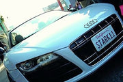 STARK 11 license plate on Tony Stark's 2010 Audi R8 Spyder from Iron Man 2