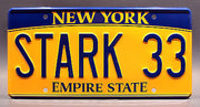 Replica metal stamped New York license plate garage decor from The Avengers starring Mark Ruffalo