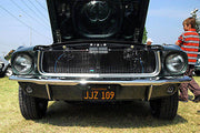 JJZ 109 license plate on Steve McQueen's 1968 Ford Mustang from Bullitt