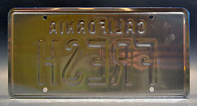FRESH Taxi The Fresh Prince of Bel Air Metal Stamped Replica Prop License Plate