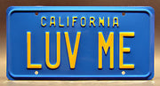 Replica metal stamped California license plate garage decor from National Lampoon's Vacation starring Randy Quaid