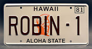 Replica metal stamped Hawaii license plate garage decor from Magnum PI starring John Hillerman