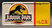 Replica metal stamped license plate garage decor from Jurassic Park starring Joseph Mazzello