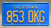 Replica metal stamped California license plate garage decor from The Rockford Files with Jim Rockford