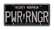 PWR RNGR prop plate movie memorabilia from Power Rangers starring Dacre Montgomery