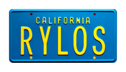 RYLOS prop plate movie memorabilia from The Last Starfighter starring Lance Guest