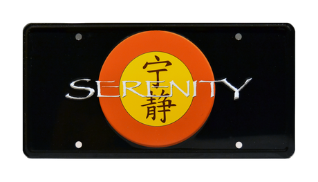 SERENITY prop plate movie memorabilia from Firefly starring Nathan Fillion