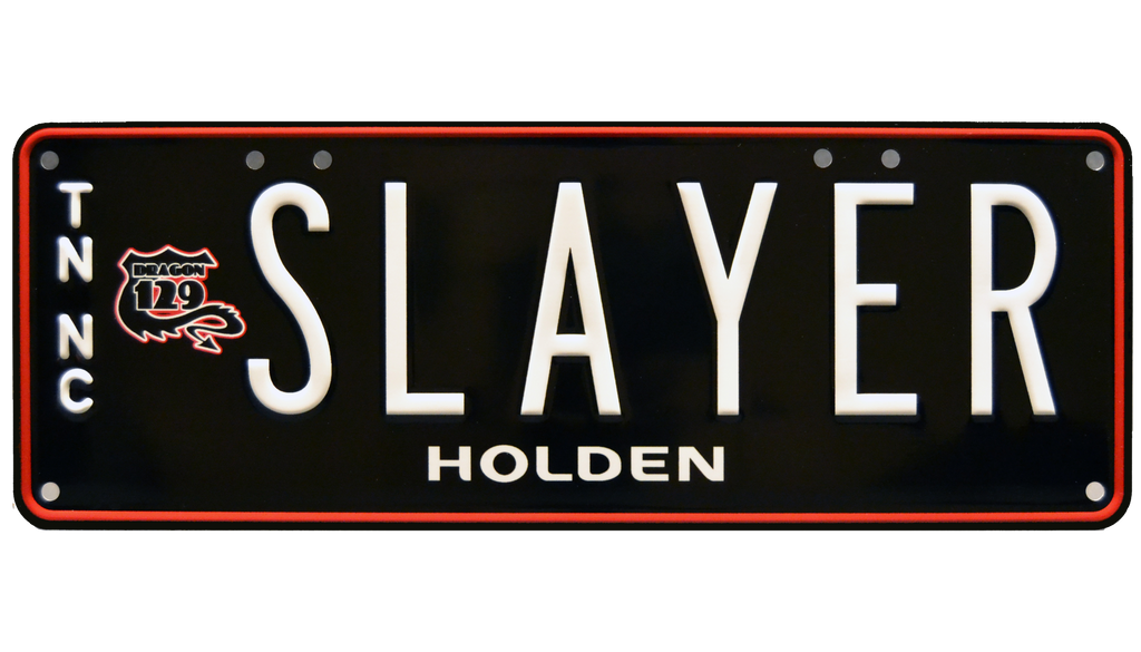SLAYER prop plate memorabilia from General Motors Holden Austrailia