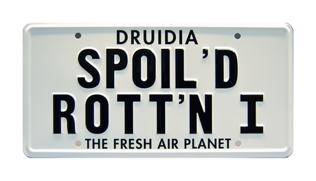 SPOIL'D ROTT'N 1 prop plate movie memorabilia from Spaceballs starring Daphne Zuniga