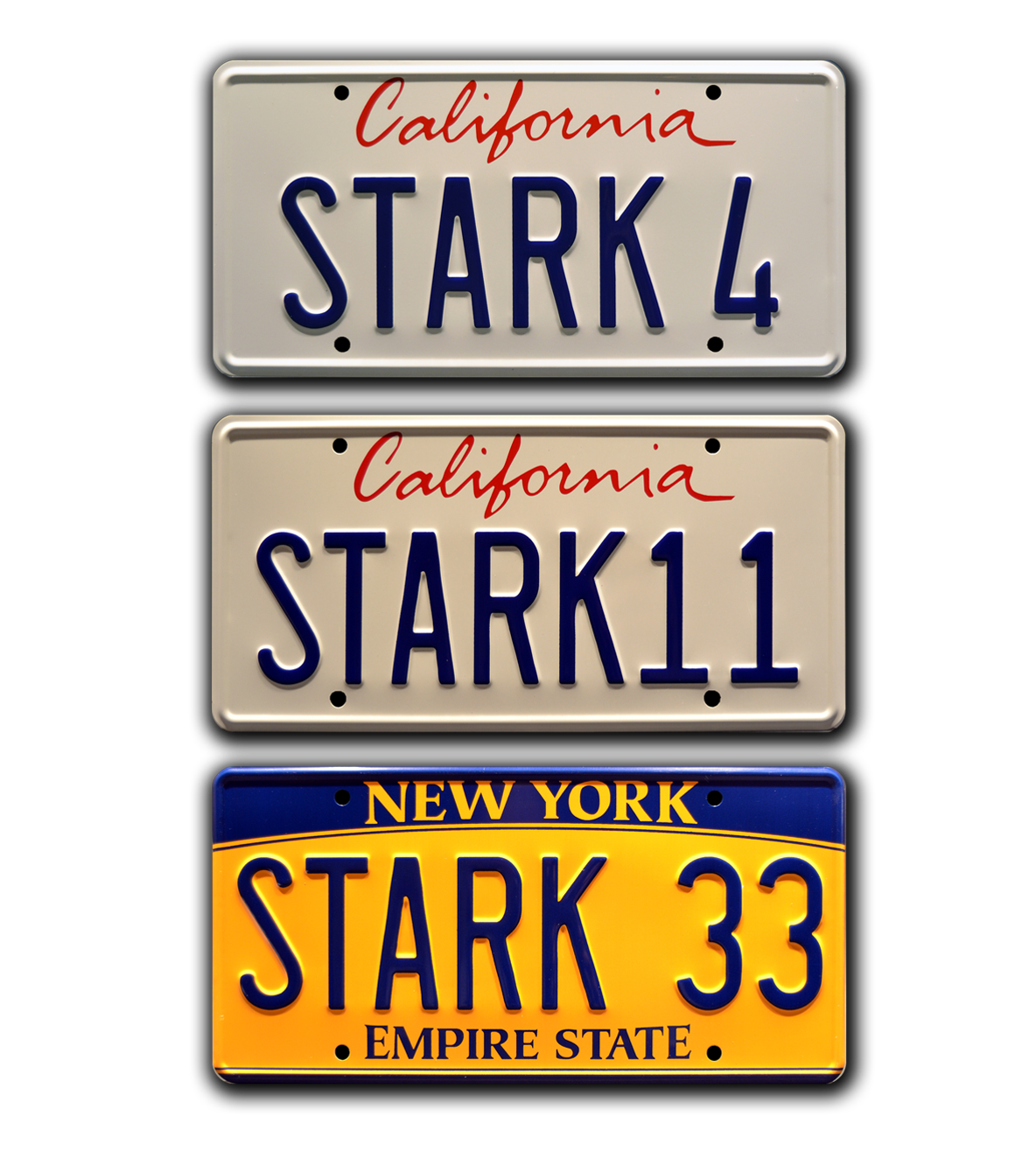 Stark 33 Metal Stamped License Plate Celebrity Machines The Avengers