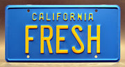 Replica metal stamped California license plate garage decor from The Fresh Prince of Bel Air with Uncle Phil