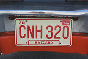 Georgia CNH 320 license plate on General Lee from Dukes of Hazzard