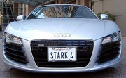 STARK 4 license plate on Tony Stark's 2007 Audi R8 from Iron Man