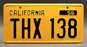 Replica metal stamped California license plate garage decor from American Graffiti starring Harrison Ford