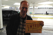 Bob Odenkirk with LWYRUP plate from Breaking Bad