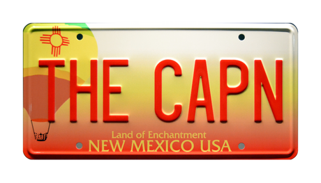 THE CAPN prop plate movie memorabilia from Breaking Bad starring Aaron Paul